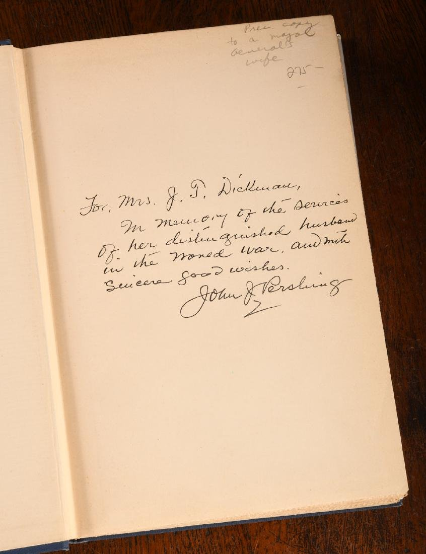 BOOKS: Pershing INSCRIBED Experiences in World War - 2