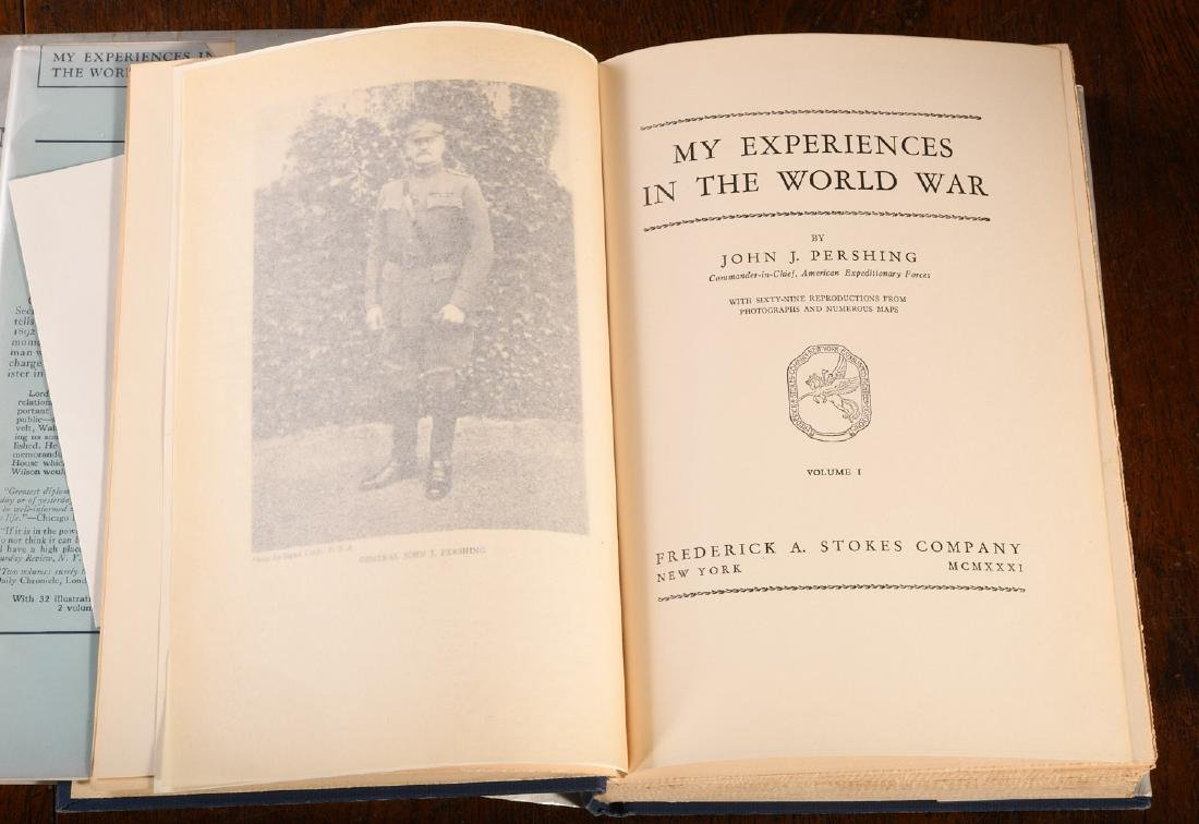 BOOKS: Pershing INSCRIBED Experiences in World War - 3