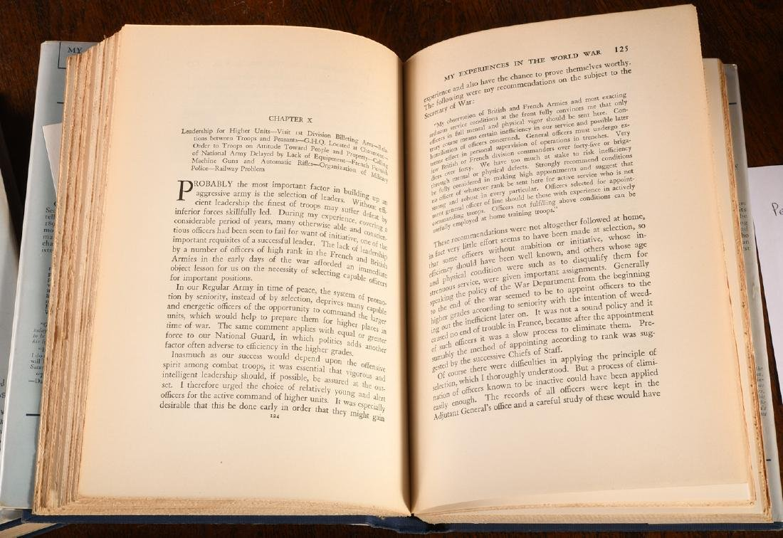 BOOKS: Pershing INSCRIBED Experiences in World War - 4