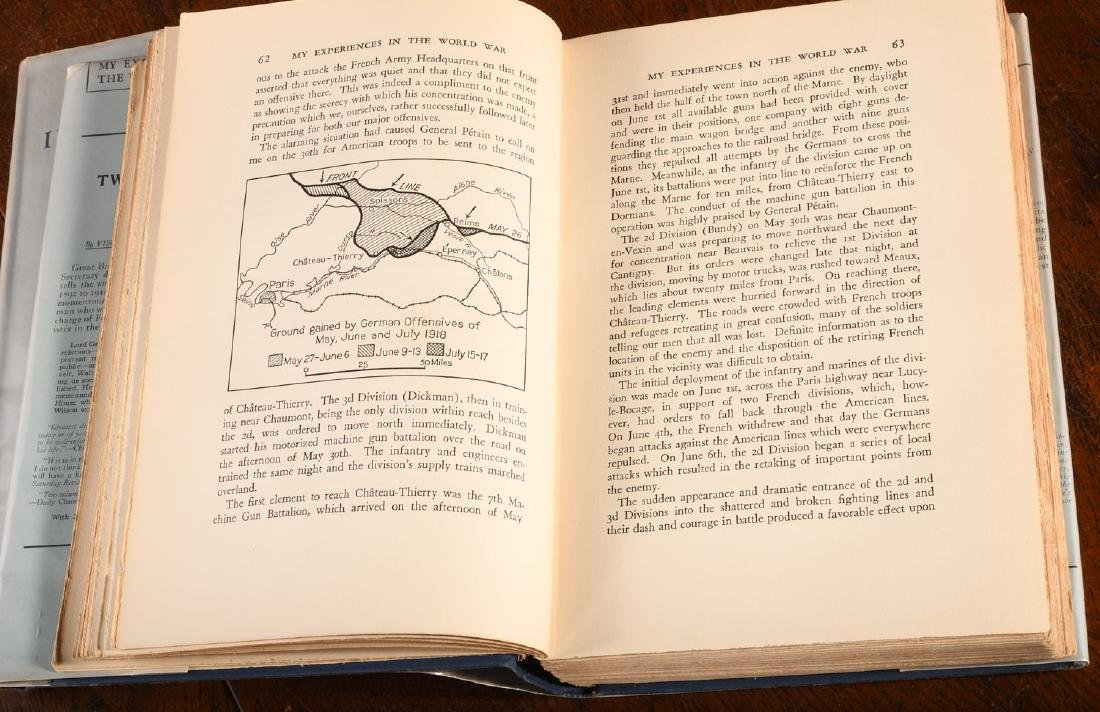 BOOKS: Pershing INSCRIBED Experiences in World War - 6