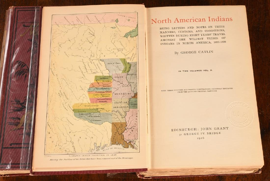 BOOKS: Catlin 1926 N. A. Indians 320 Color Plates - 2