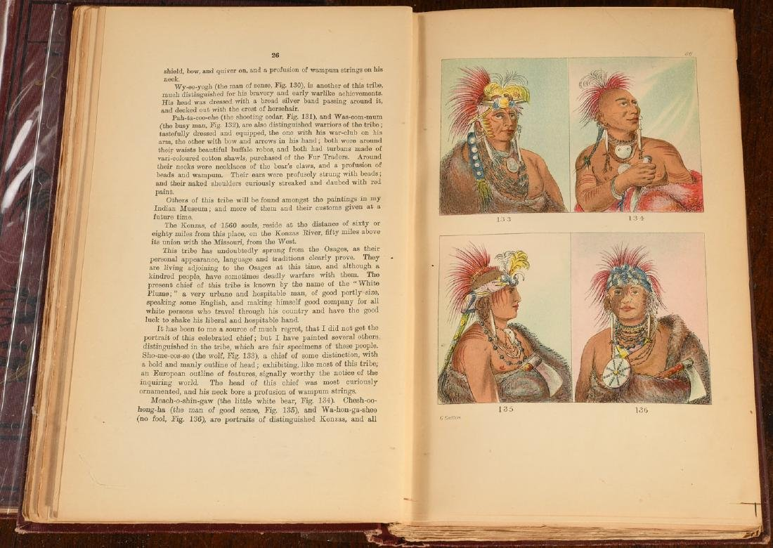 BOOKS: Catlin 1926 N. A. Indians 320 Color Plates - 5
