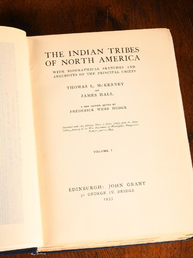 BOOKS: McKenny 1933 Indian Tribes 96 Color Plates - 2