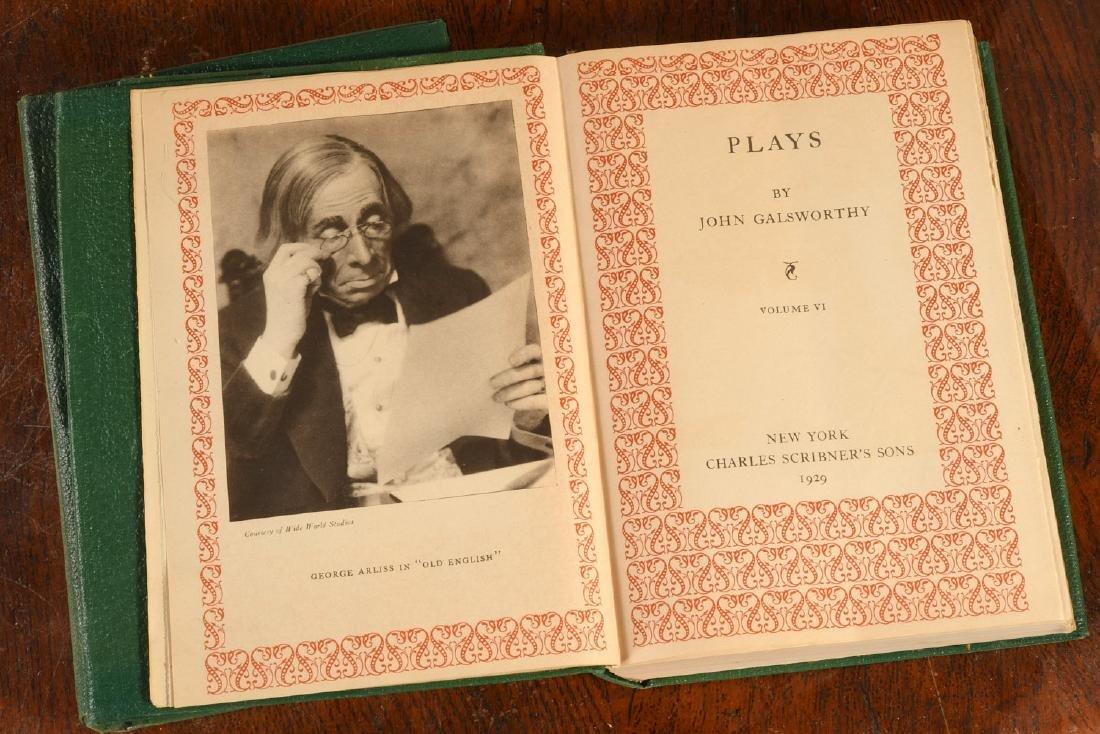 BOOKS: (6) Vols SIGNED Ltd Galsworthy Set 1929 - 4
