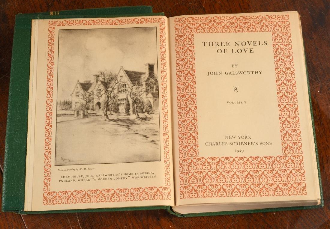 BOOKS: (6) Vols SIGNED Ltd Galsworthy Set 1929 - 5