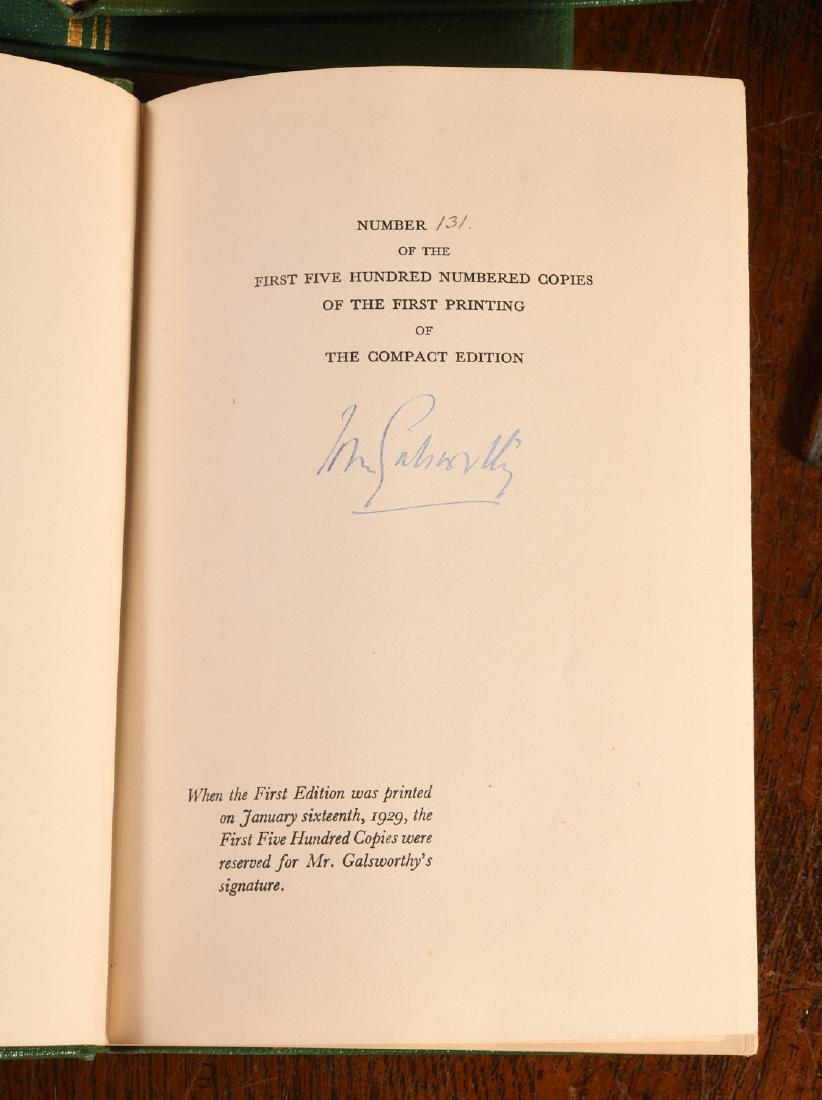 BOOKS: (6) Vols SIGNED Ltd Galsworthy Set 1929 - 6