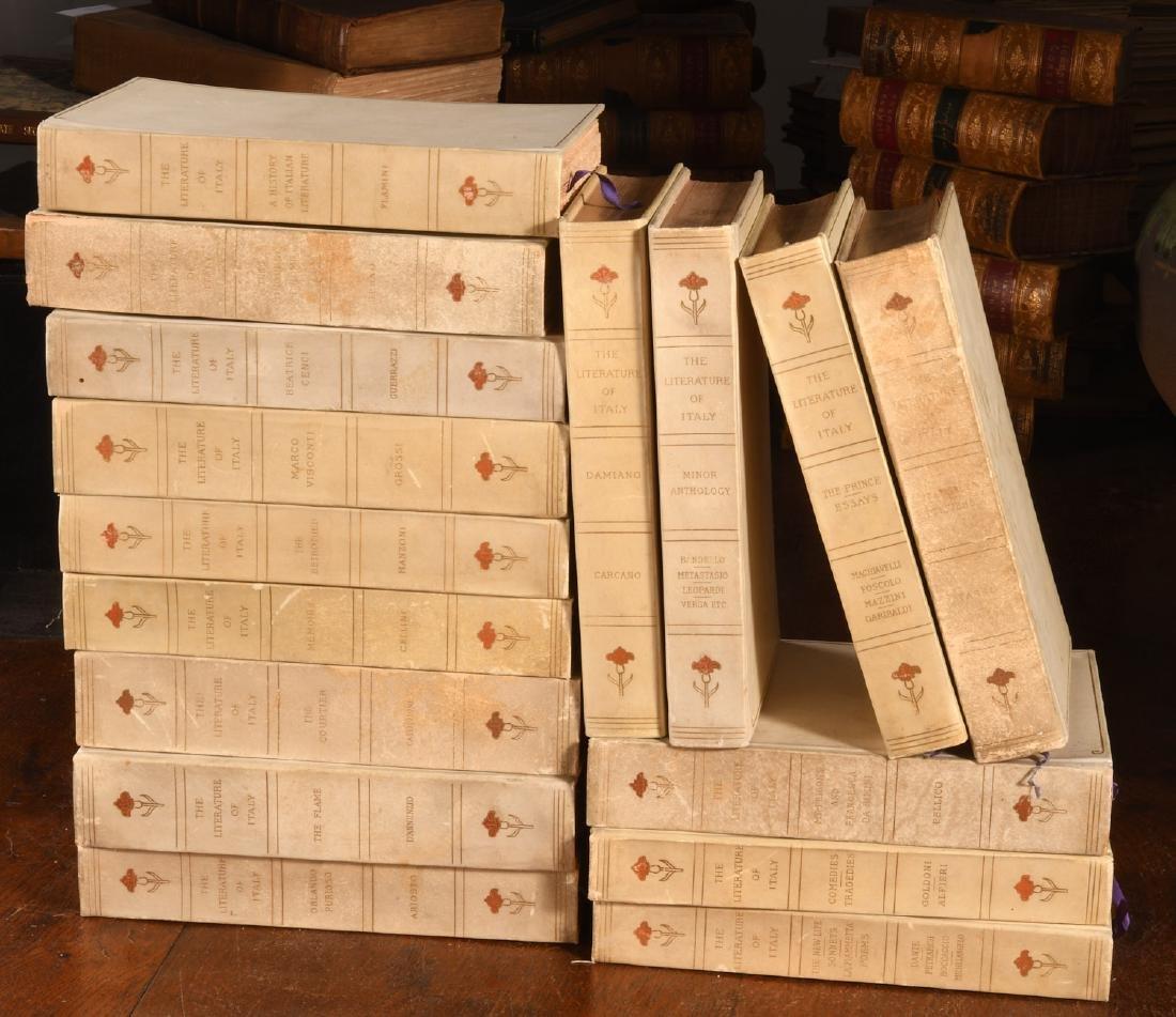 BOOKS: (16) Vols Ltd Ed 1906 Literature of Italy