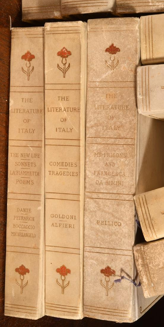 BOOKS: (16) Vols Ltd Ed 1906 Literature of Italy - 2