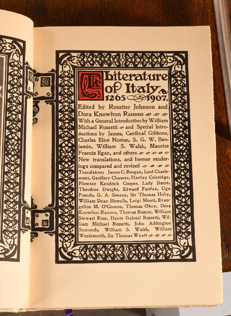 BOOKS: (16) Vols Ltd Ed 1906 Literature of Italy - 7