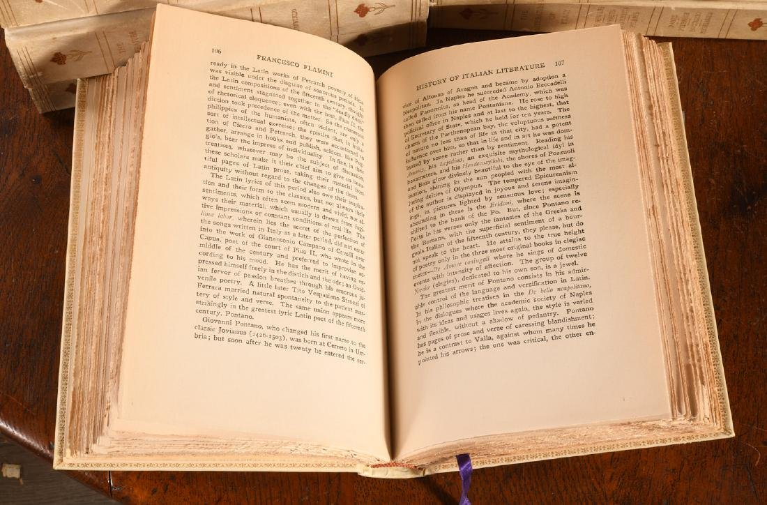 BOOKS: (16) Vols Ltd Ed 1906 Literature of Italy - 8
