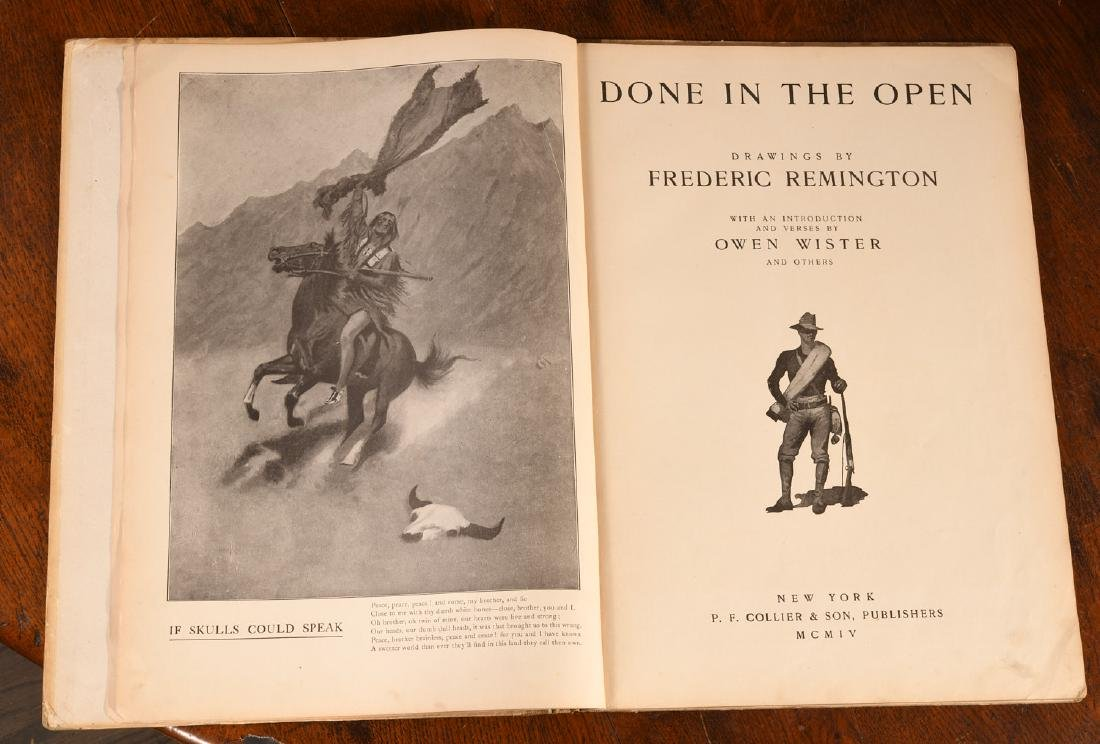 BOOKS: Frederic Remington 1904 Done in the Open - 2