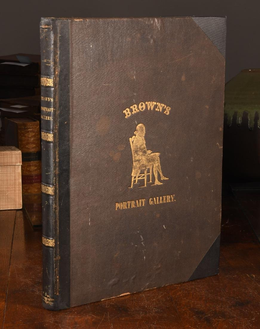 BOOKS: 1845 Brown's Portrait Gallery of American..
