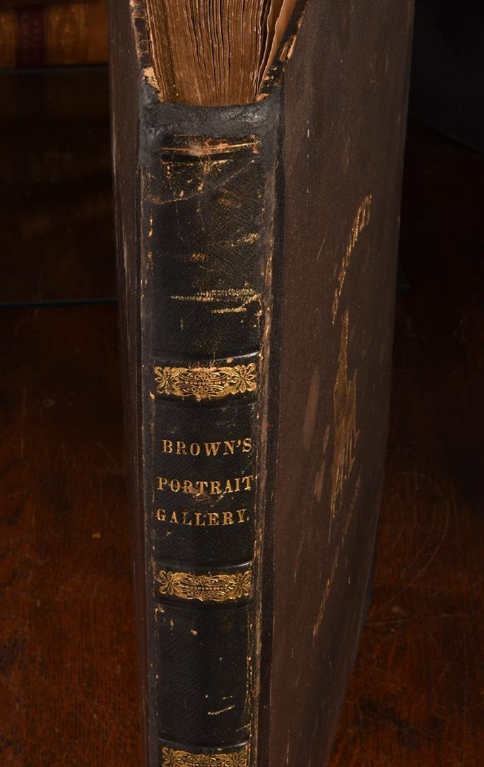 BOOKS: 1845 Brown's Portrait Gallery of American.. - 2