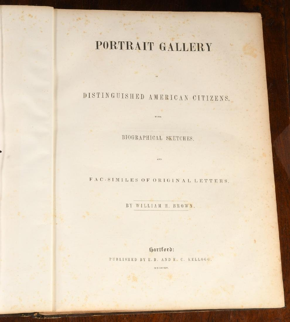 BOOKS: 1845 Brown's Portrait Gallery of American.. - 5