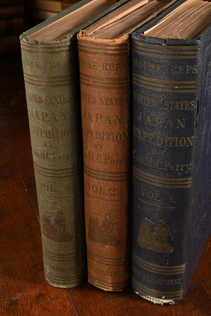 BOOKS: (3) Vols Perry 1856 Exp. China Seas & Japan - 2