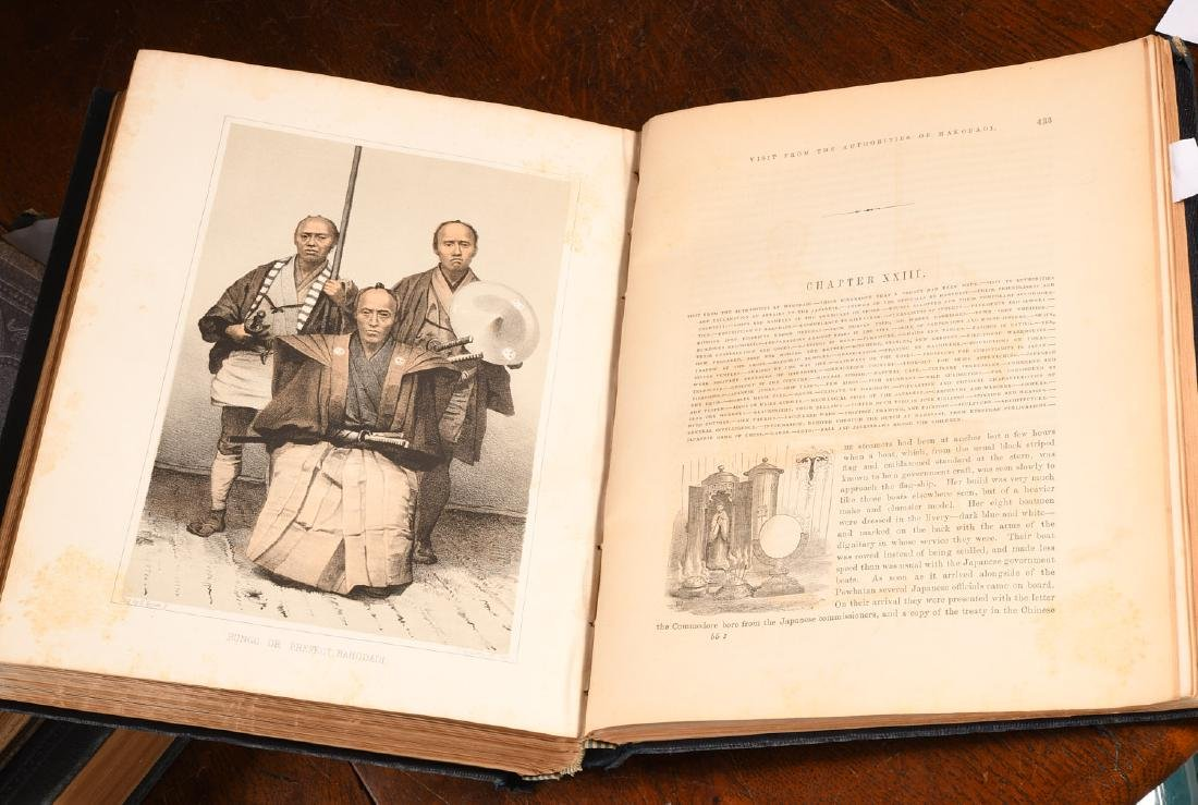 BOOKS: (3) Vols Perry 1856 Exp. China Seas & Japan - 6
