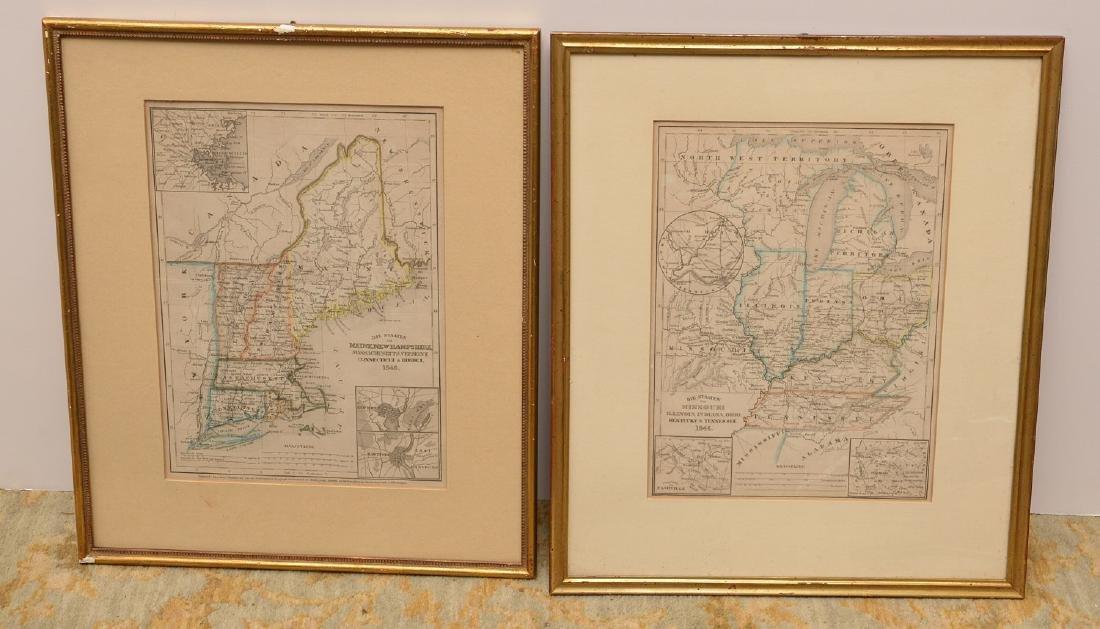 MAPS: (2) U.S. Regional 1846 Meyer's Atlas