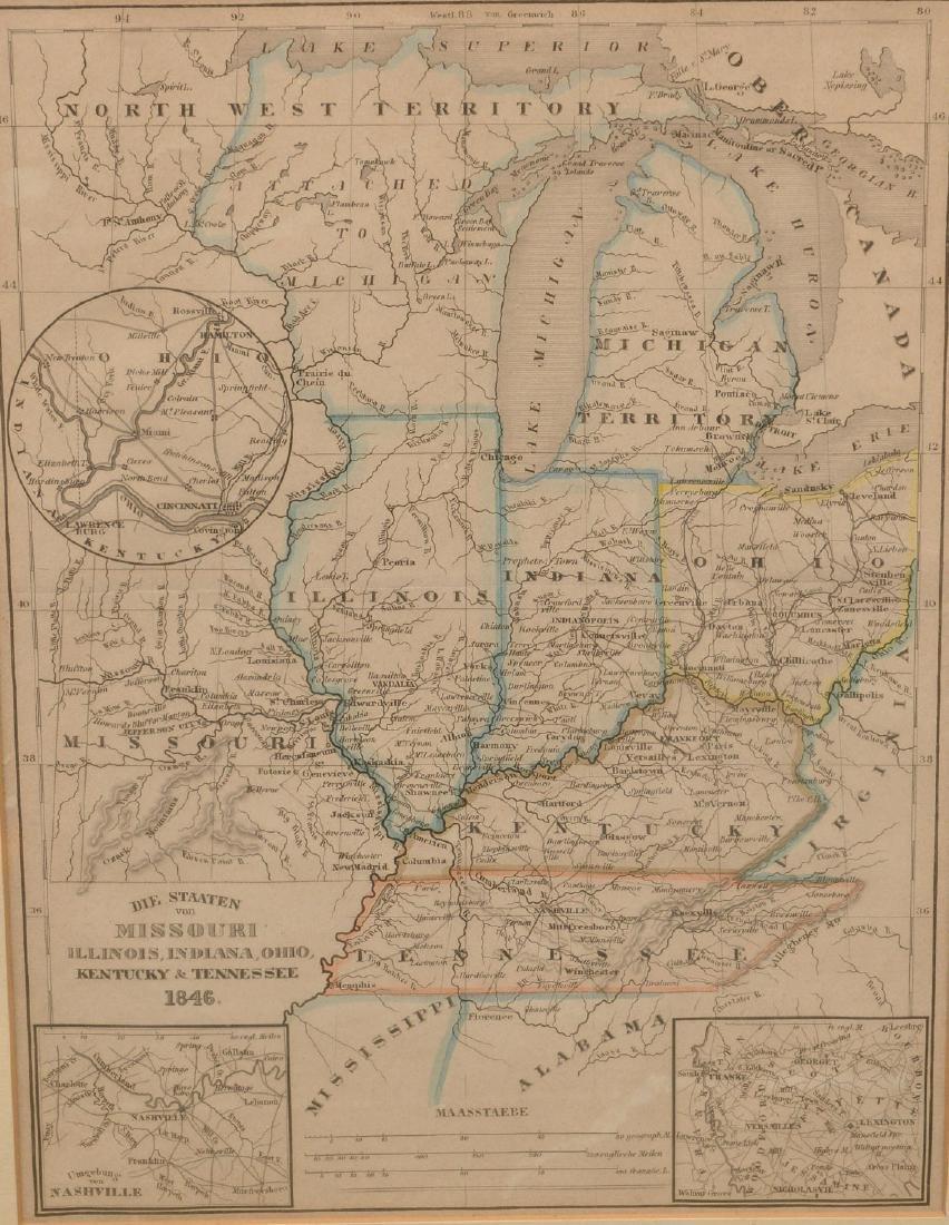 MAPS: (2) U.S. Regional 1846 Meyer's Atlas - 2