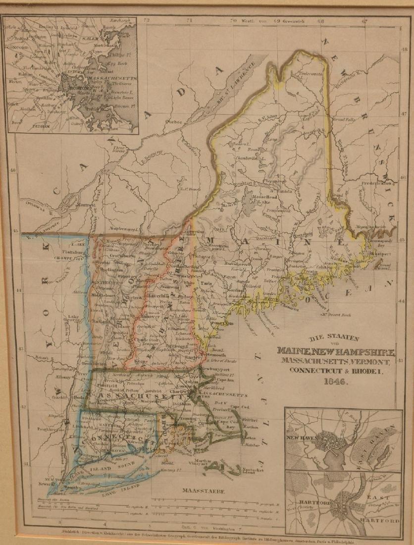 MAPS: (2) U.S. Regional 1846 Meyer's Atlas - 3