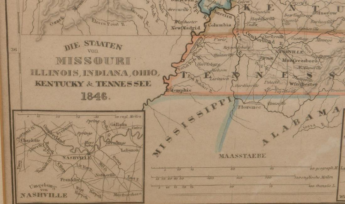 MAPS: (2) U.S. Regional 1846 Meyer's Atlas - 4