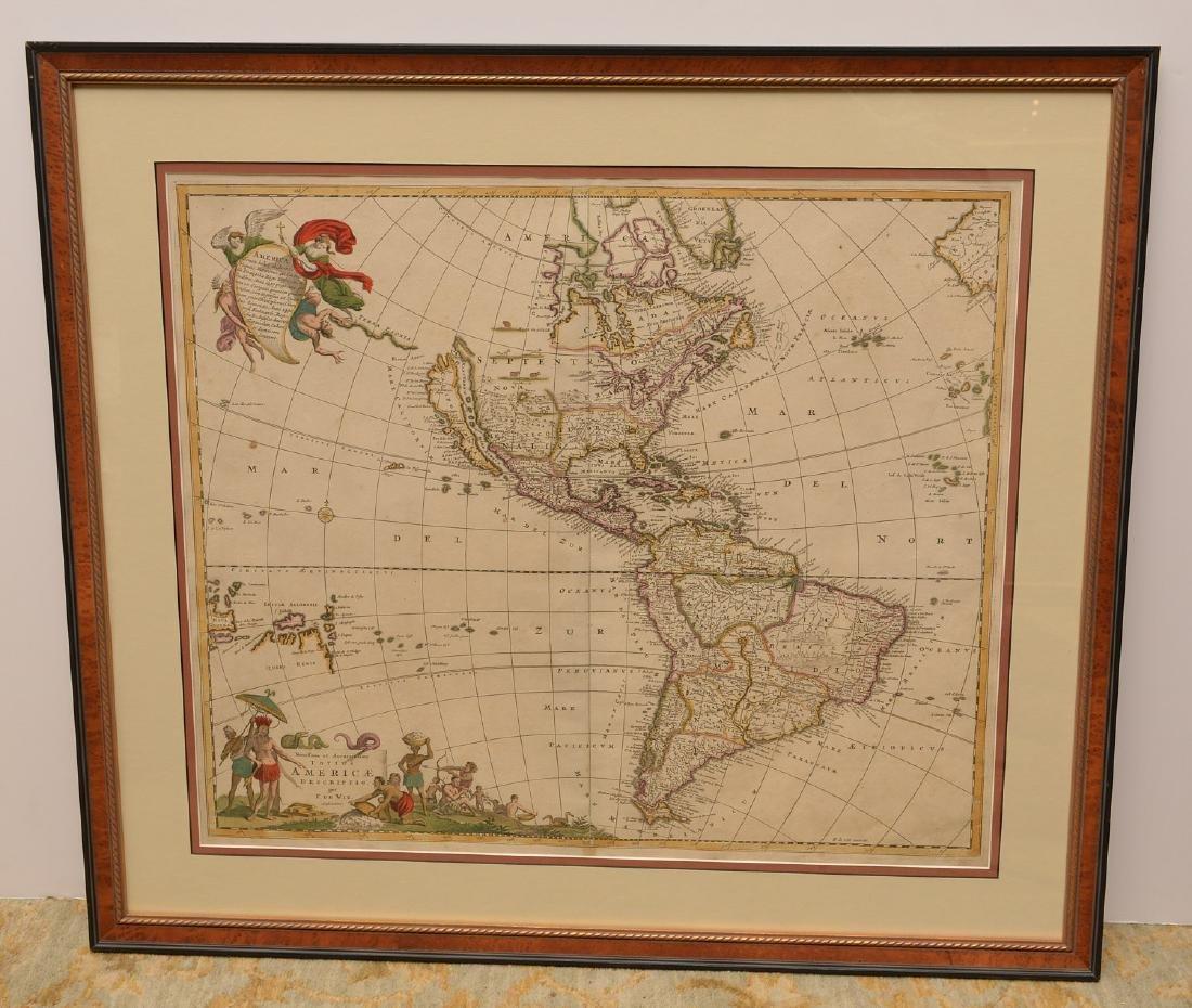 MAPS: 1688 Totius America F. de Wit 6th State