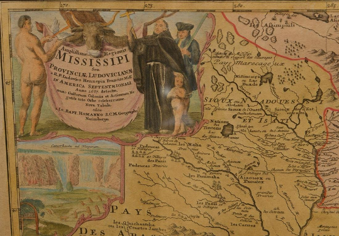 MAPS: Homann 1720 Regionis Mississipi - 6