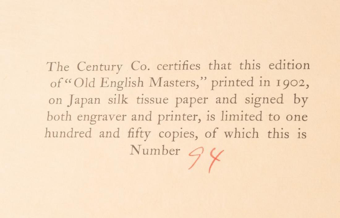 BOOKS: Cole 1902 Old English Masters Signed Ltd Ed - 2