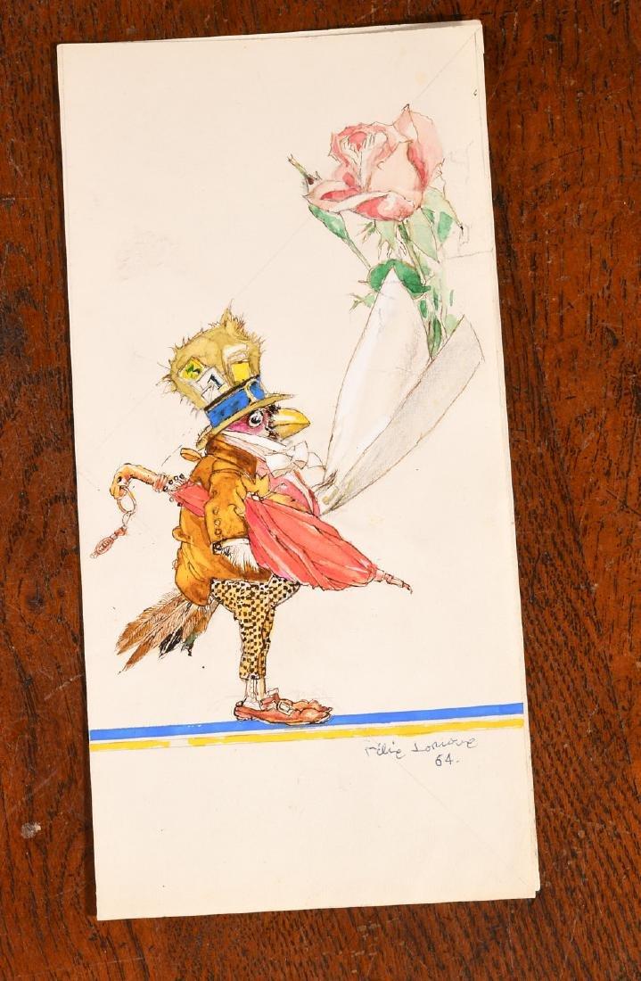 Original Felix Lorioux Watercolor Illustration