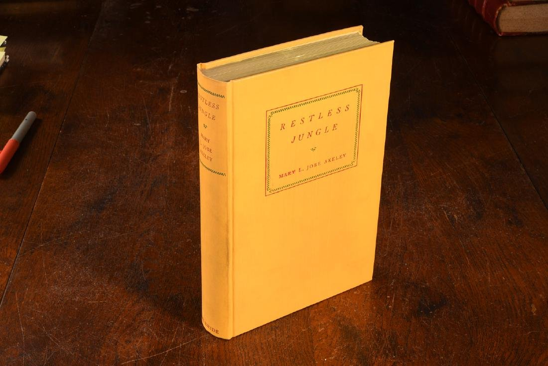 BOOKS: Akeley 1936 Restless Jungle SIGNED