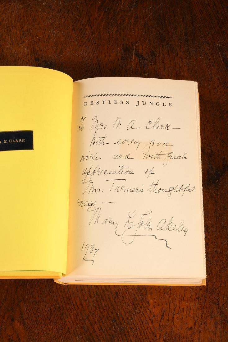 BOOKS: Akeley 1936 Restless Jungle SIGNED - 3