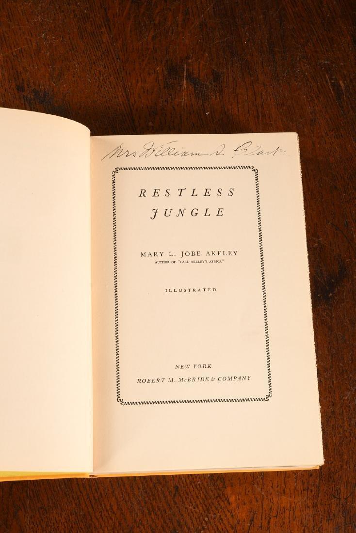 BOOKS: Akeley 1936 Restless Jungle SIGNED - 4