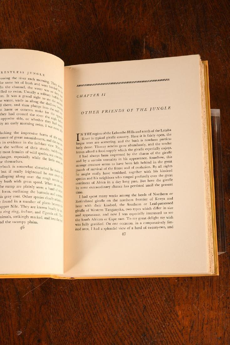 BOOKS: Akeley 1936 Restless Jungle SIGNED - 6