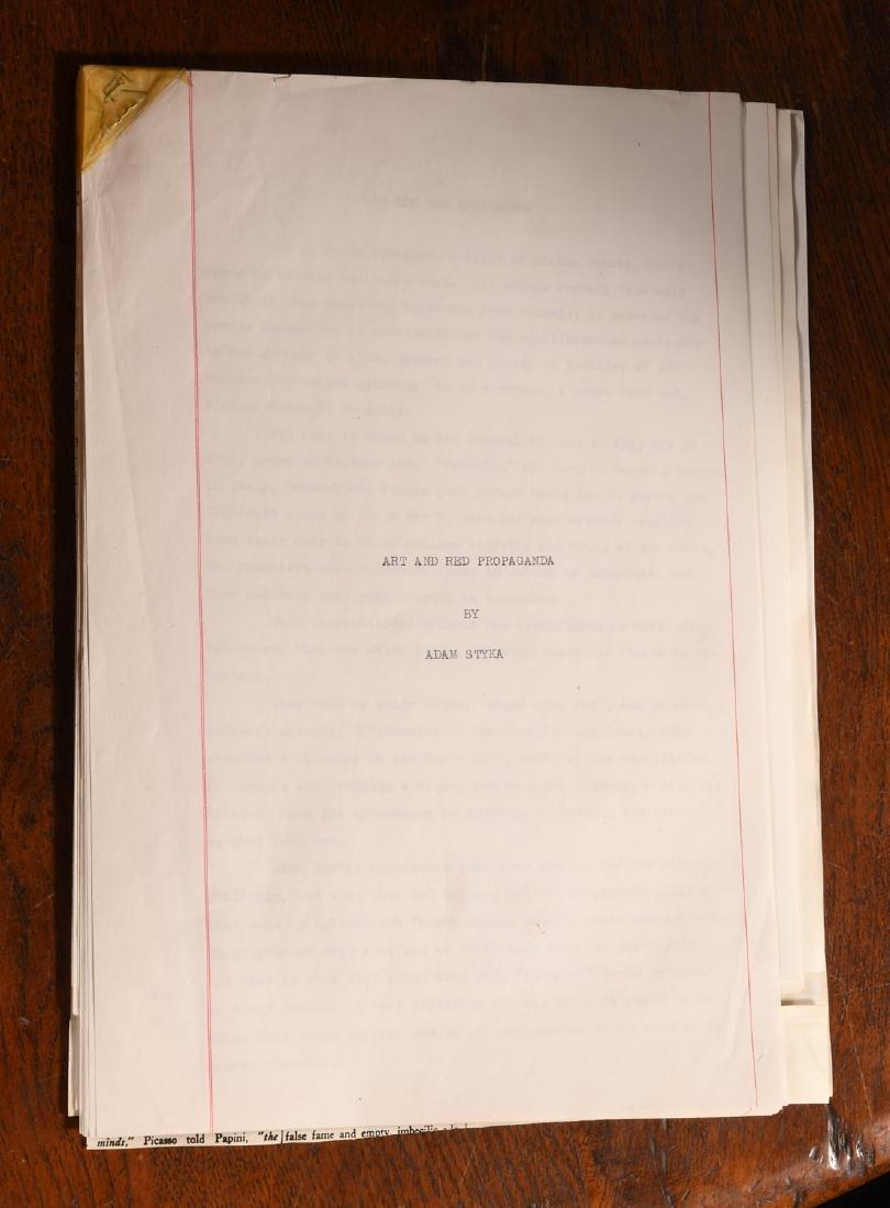 Typescript: Adam Styka 1953 Art and Red Propaganda