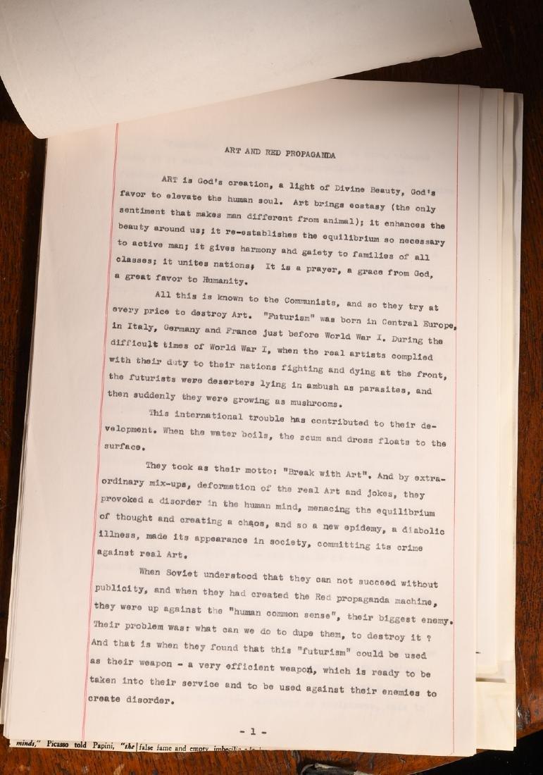Typescript: Adam Styka 1953 Art and Red Propaganda - 2