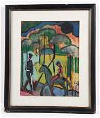 German Expressionist School painting