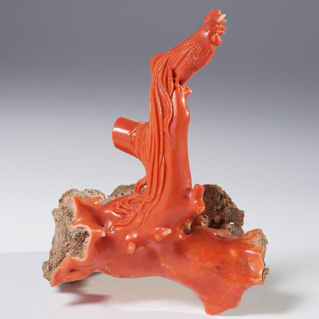 Chinese carved coral branch - 2