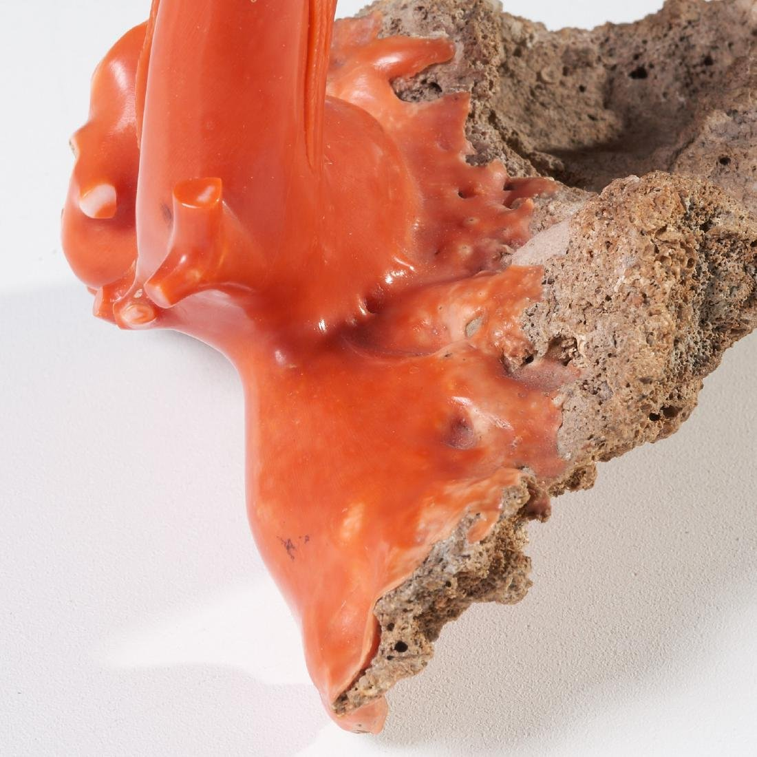 Chinese carved coral branch - 5