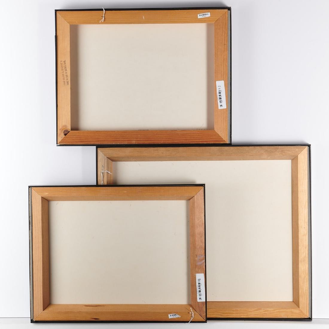(3) Framed Chinese opera costume elements - 7