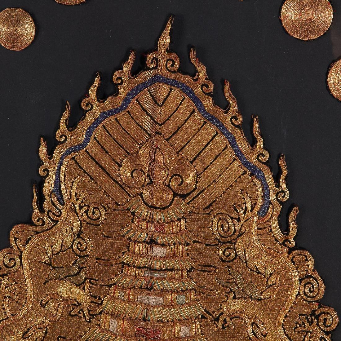 (2) Framed Chinese opera costume panels - 4
