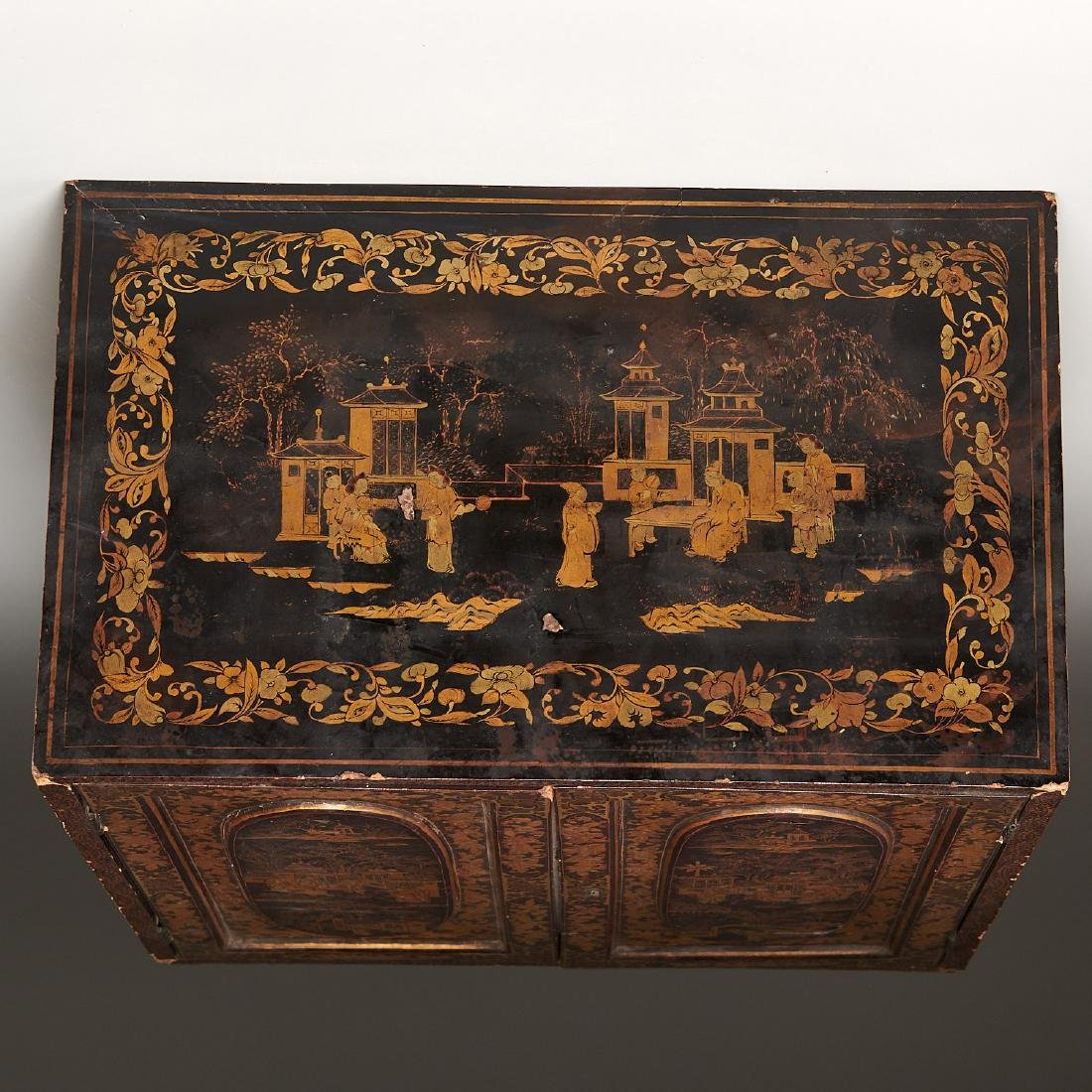 Antique Chinese Export table top chest - 9