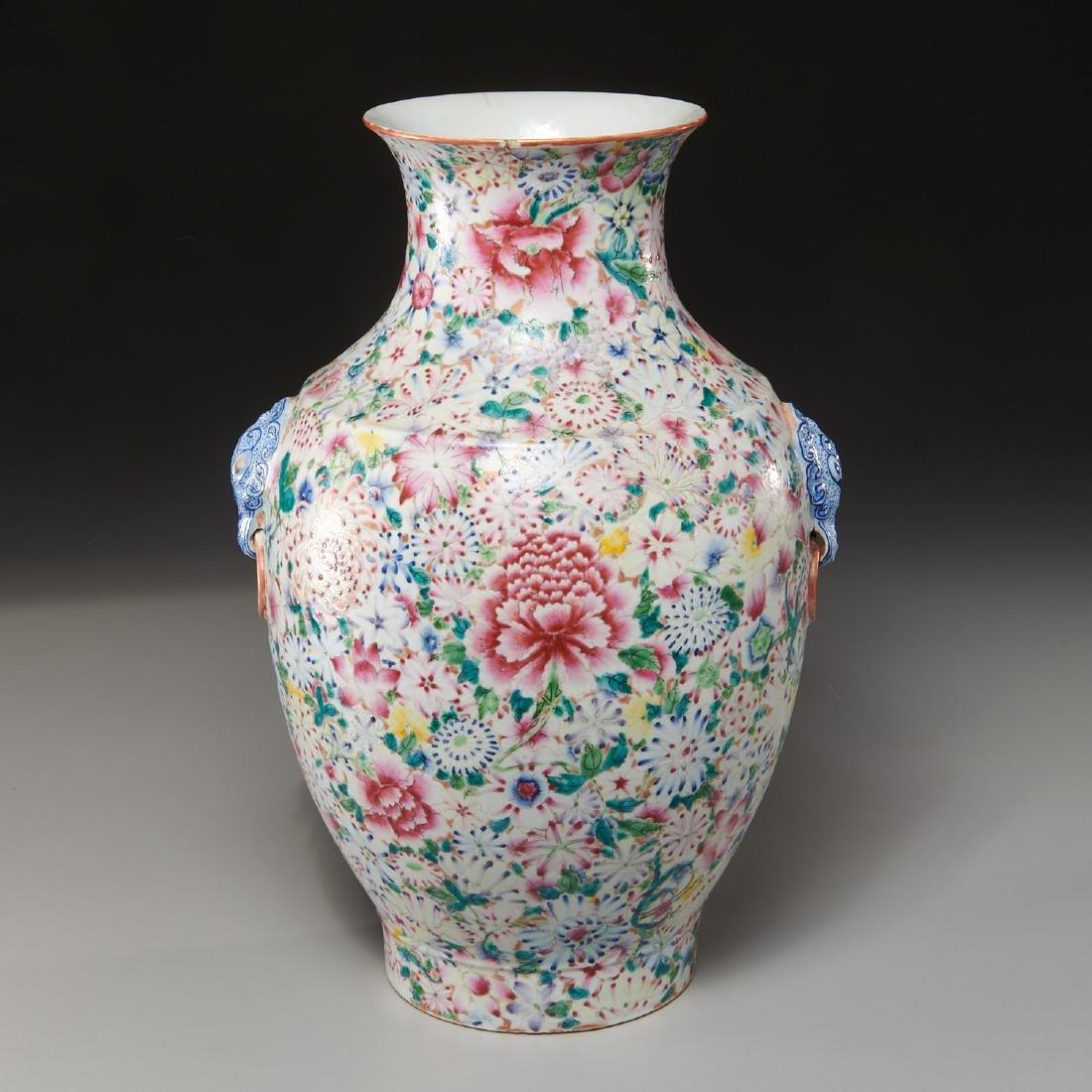Chinese porcelain millefleurs vase