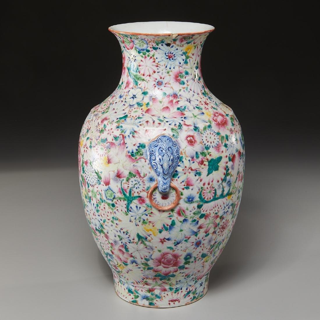 Chinese porcelain millefleurs vase - 8