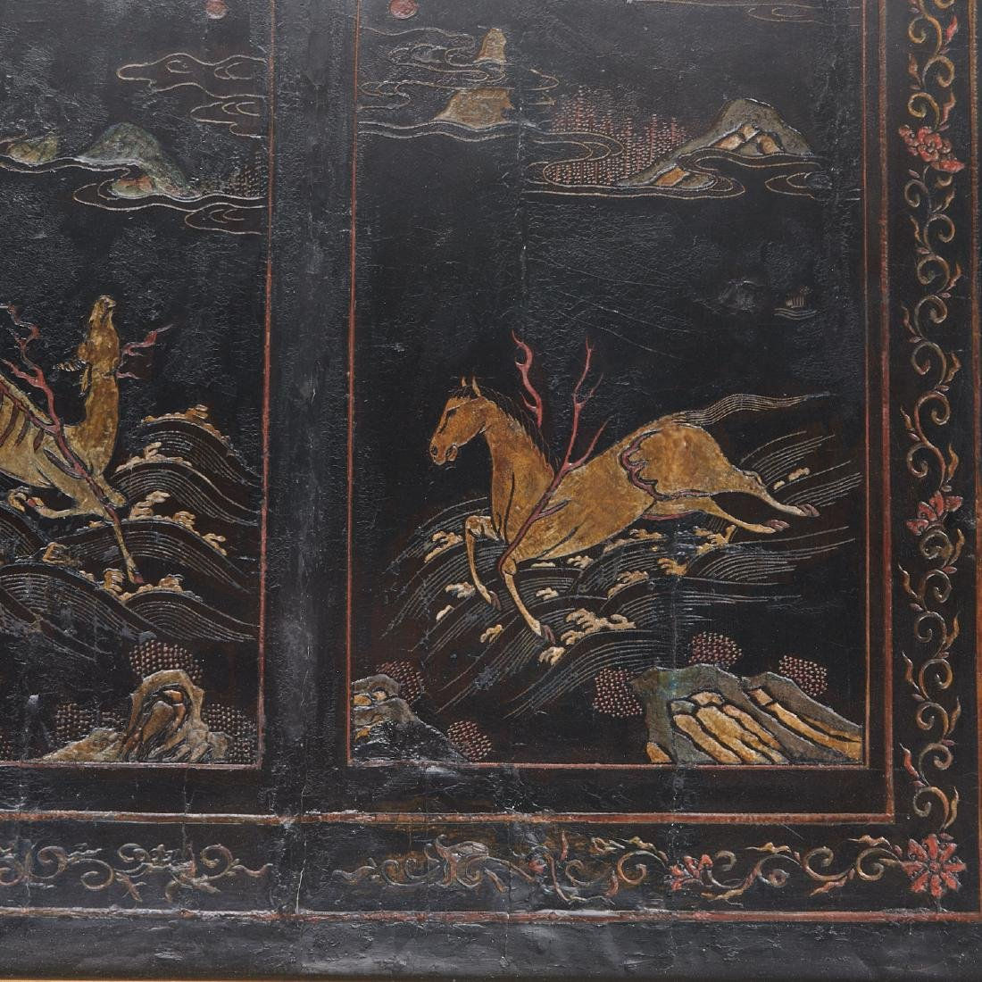 Early Chinese framed coromandel panel - 2
