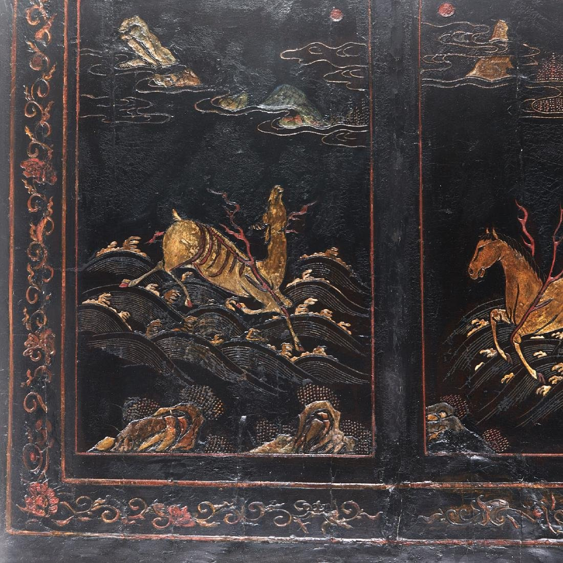 Early Chinese framed coromandel panel - 3