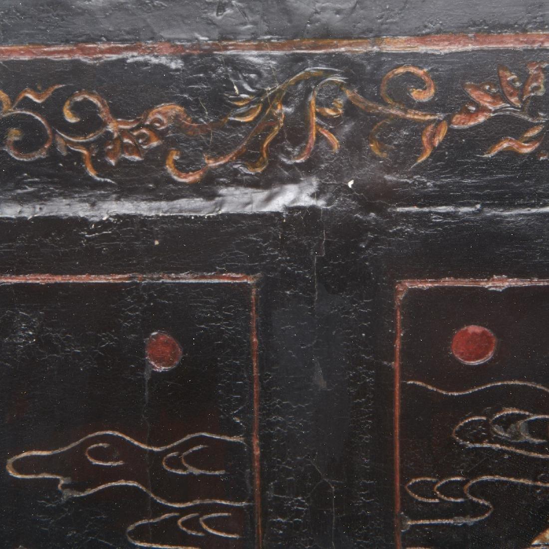 Early Chinese framed coromandel panel - 5