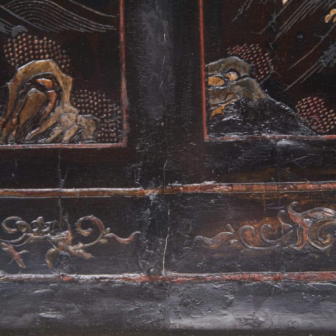 Early Chinese framed coromandel panel - 7