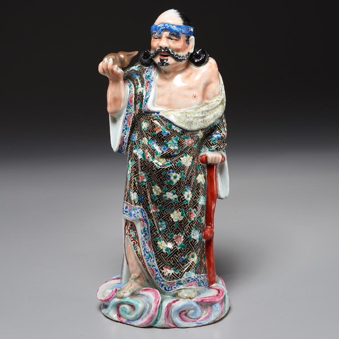 Large Chinese porcelain figure of Li Tieguai