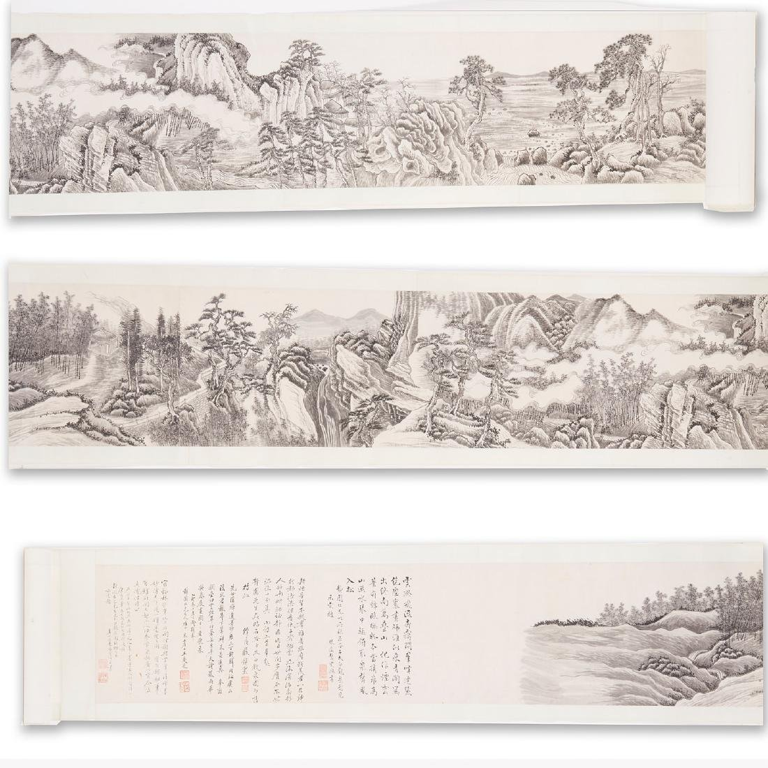 Chinese School, epic scroll painting