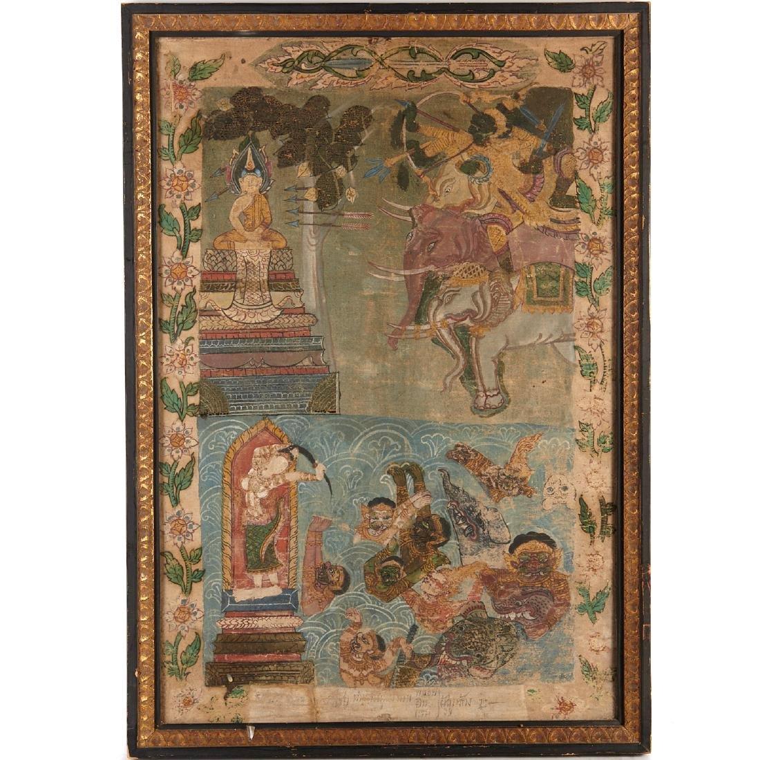 Buddhist narrative painting