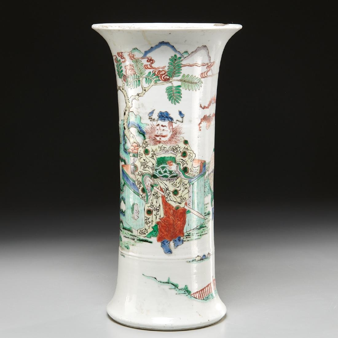 Chinese famille rose porcelain Gu vase